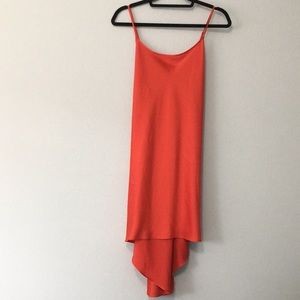 VTG Victoria's Secret Red High/Low Slip